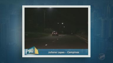 Moradora reclama de avenida sem iluminação em Campinas - A Avenida Doutor Manoel Afonso Ferreira esta bem sinalizada, mas tem trechos completamente escuros. Uma telespectadora enviou imagens para a EPTV, afiliada da TV Globo.