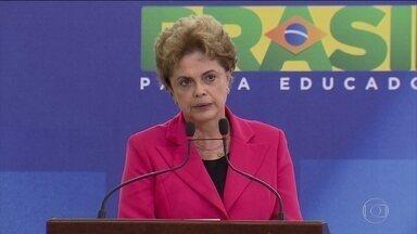 Dilma reclama de 'vazamento seletivo de informações' - Durante uma cerimônia no Palácio do Planalto, a presidente fez críticas ao que chamou de vazamento seletivo de informações.