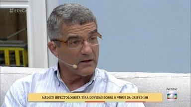Médico tira dúvidas sobre a gripe H1N1 - Edmilson Migowski responde às perguntas do público sobre o vírus. O infectologista fala da importância da vacina e dá dicas para se prevenir