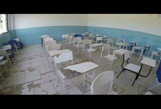 Alunos voltam às aulas em Cabo Frio mas escolas apresentam falta de estrutura - Situação é precária em várias unidades.