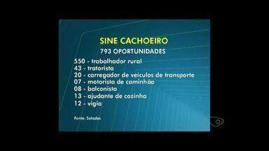 Sine de Cachoeiro terá mais de 700 vagas de emprego disponíveis no ES - Informação foi dada pelo Governo do estado do Espírito Santo. Vagas estarão disponíveis na segunda-feira (11).