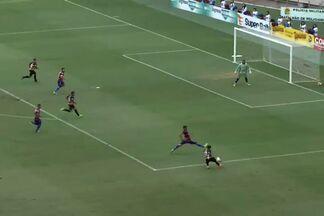 Aos 25, Guaraju tem a primeira boa chance do jogo - Philco tenta com um carrinho e quase abre o placar para o time de Juazeiro. Bola sai na linha de fundo e é o tiro de meta para cobrança do goleiro Erivélton