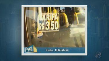 Passageiro reclama da condição do transporte coletivo em Indaituba - Alguns passageiros, que tiveram problemas com o transporte nesta sexta-feira (15), enviaram imagens para a EPTV, afiliada da TV Globo.