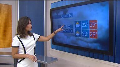 Previsão do tempo - Veja como fica o tempo na região de Curitiba e no litoral neste fim de semana.