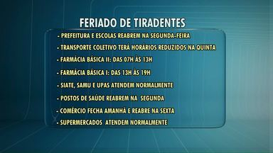Vem aí mais um feriado prolongado - Confira o que abre e o que fecha nesta quinta-feira, feriado de Tiradentes.