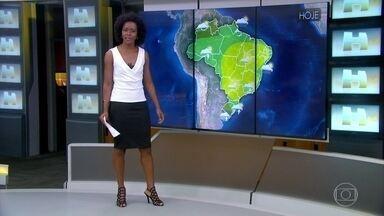 Previsão é de sol em boa parte do Brasil neste feriado - Enorme área do Brasil ainda está sob a influência do bloqueio atmosférico. Confira a previsão do tempo nesta quinta-feira (21).