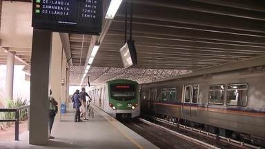 Metrô do DF não recebe expansão há mais de dez anos - Rollemberg faz planos para aumentar a linha, mas os recursos não estão garantidos.