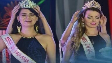 Miss Rondônia é 'descoroada' no palco e acusa organizadores de fraude - Modelo anunciada em 1º lugar teve a coroa retirada por uma organizadora.Organizadora se trancou no banheiro com votos para não haver recontagem.