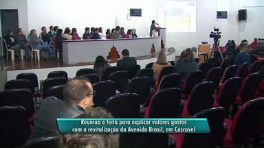 Prefeitura esclarece porquê está gastando mais que previsto em obras da Avenida Brasil - O assunto foi discutido hoje em uma reunião aberta para a comunidade.