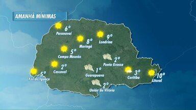Domingo frio no Paraná - A mínima pode chegar a dois graus negativos em União da Vitória.