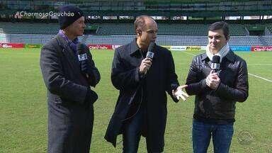 Brito, Maurício e Diogo Olivier visitam Estádio Alfredo Jaconi - Assista ao vídeo.