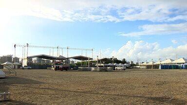 Estrutura do Forrozão começa a ser montada em Aracaju - Estrutura do Forrozão começa a ser montada em Aracaju