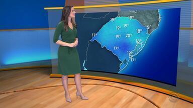 Domingo (1) deve ser de tempo firme no RS - A máxima não passa de 18ºC em Porto Alegre.