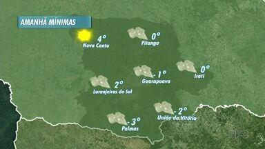 O domingo deve ser gelado em todas as cidades da nossa região - Tem previsão novamente de geada pra maioria das cidades da região.
