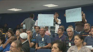 Guardas municipais comparecem à votação para mudança de corregedoria em Campinas - Houve protesto durante a votação.
