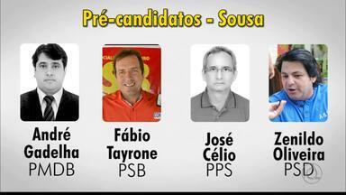 Sousa tem quatro pré-candidatos para prefeito da cidade - Acompanhe notícias da Política com Laerte Cerqueira.