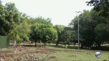 Moradores reclamam de falta de segurança e iluminação no Parque Tom Jobim em Ribeirão - Postes de luz não funcionam e local está sem alambrado. Prefeitura não deu prazo para solução dos problemas.