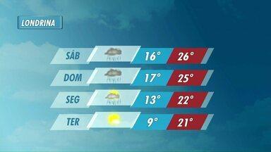 Chuva segue até segunda-feira, e frio volta com força na terça - Mínimas podem chegar a 9 graus.