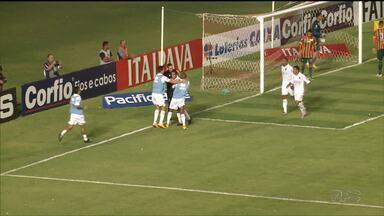 Fora de casa, Paraná Clube vence a primeira na Série B - Tricolor encerrou jejum de vitórias e gols com o 1x0 sobre o Sampaio Corrêa, nesta terça no estádio Castelão, em São Luís