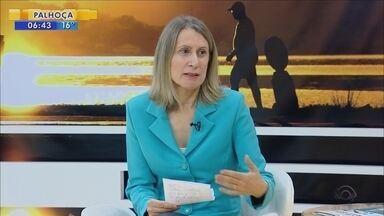 Estela Benetti comenta sobre o mercado de trabalho em SC - Estela Benetti comenta sobre o mercado de trabalho em SC