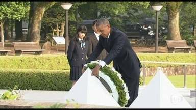 Barack Obama faz visita histórica a Hiroshima - Barack Obama é o primeiro presidente americano em exercício a visitar Hiroshima, que foi completamente arrasada na Segunda Guerra Mundial.
