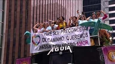 Parada de Orgulho LGBT leve 2 milhões de pessoas no Centro de SP - Direitos dos trangêneros foi o tema principal do evento.