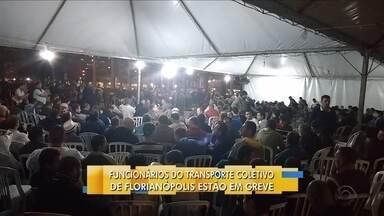 Trabalhadores do transporte público votam por greve em Florianópolis - Trabalhadores do transporte público votam por greve em Florianópolis