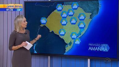 Tempo: umidade vai embora e temperaturas baixam na quarta-feira (1º) no RS - Mínimas ficam abaixo dos 10ºC na maior parte do estado.