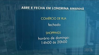 Amanhã é feriado em Londrina e muitos setores não vão abrir - O feriado é municipal, dia do Padroeiro da cidade. Veja o que abre e o que fecha.