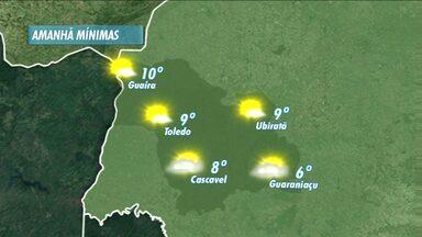 Massa de ar frio faz temperaturas mínimas caírem - A previsão é de que a sexta-feira comece com 6 graus para Guaraniaçu.