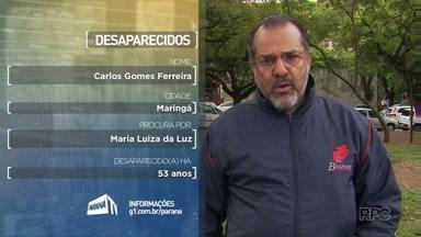 Desaparecidos: Parentes gravam depoimentos em Maringá - Ajude a encontrar pessoas que estão desaparecidas
