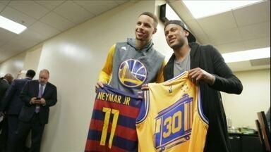 NBA: Com Neymar na plateia, Golden State vence Jogo 2 contra Cleveland - NBA: Com Neymar na plateia, Golden State vence Jogo 2 contra Cleveland