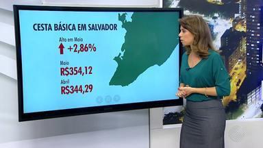 Cesta básica teve reajuste em Salvador no mês de maio; aumento no ano já chega a 12,69% - A conta de água também aumenta a partir desta segunda-feira (6).