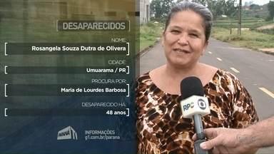 Moradora de Umuarama procura pela mãe que não vê há 48 anos - A última notícia que ela tem é que a mãe dela estaria morando em Recife.