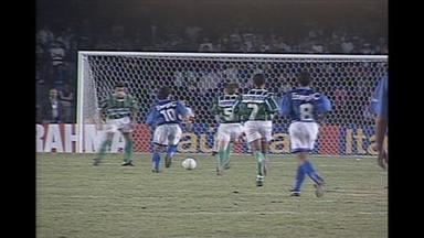 Em 1996, Cruzeiro empata por 1 a 1 com o Palmeiras na primeira final da Copa do Brasil - Em 1996, Cruzeiro empata por 1 a 1 com o Palmeiras na primeira final da Copa do Brasil