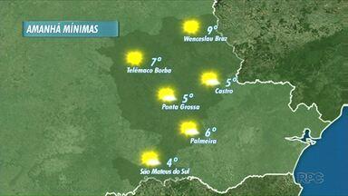 Frio continua, mas sem previsão de geada - Nesta quarta-feira, as temperaturas mínimas ficam entre 4 e 9 graus.