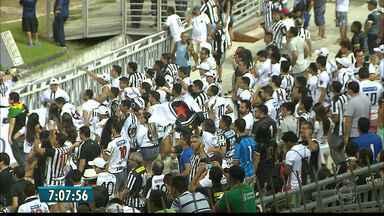 MP mantém jogo com torcida única, mas na prática torcida do Botafogo-PB vai a campo - Esquema de segurança montado, divisão de torcida, mas... nada recomendação de torcida única segue.