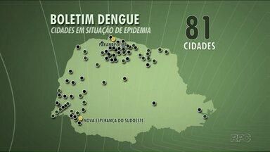 Paraná registra mais de 1.200 casos de dengue em uma semana - O boletim é da Secretaria Estadual da Saúde. Oitenta e uma cidades estão em situação de epidemia da doença.