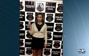 Jovem é presa suspeita de vender diplomas falsos, em Goiás - Priscila Oliveira, 25, anunciava documentos nas redes sociais, diz polícia. Materiais tinham até carimbo da Secretaria Estadual de Educação.