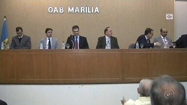 Novo delegado da Polícia Federal toma posse em Marília - A Polícia Federal em Marília tem um novo delegado. A posse foi nesta quarta-feira (15) com a presença de autoridades, no auditório da OAB.
