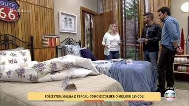 Especialista mostra as diferenças entre os tecidos de roupa de cama - Poliéster. malha e percal: como escolher p melhor lençol