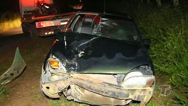 Mãe e filha morrem atropeladas na rodovia Curuá-Una; motorista fugiu - Vítimas estavam em uma moto quando foram atingidas por carro. Testemunhas informaram à polícia que o condutor estava embriagado.