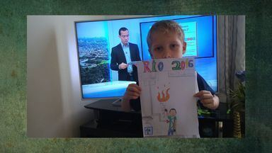 Veja as fotos dos desenhos da Tocha Olímpica - Veja as fotos dos desenhos da Tocha Olímpica.