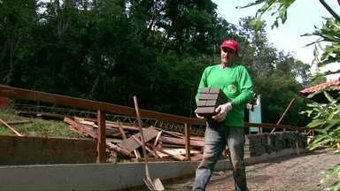 Obra de ciclovia no Parque Nacional do Iguaçu está lenta demais - Até agora, metade da obra está pronta
