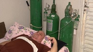 Paciente não consegue tratar câncer na garganta por falta de exame, em Goiás - Morador de Aparecida de Goiânia luta para conseguir se tratar desta e outras doenças.