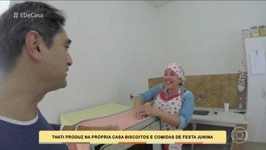 Zeca Camargo conhece jovem que faz doces e biscoitos para vender nas ruas de Aracaju - Ela conta como começou a trabalhar com as guloseimas