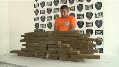 Ex-militar é preso com 60 kg de maconha em Peritoró, MA - Ex-militar é preso com 60 kg de maconha em Peritoró, MA