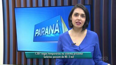 Guarapuava tem 56 vagas para emprego no sistema prisional - Inscrições vão até esta terça-feira, dia 5. Em todo o estado, são 1.201 vagas.