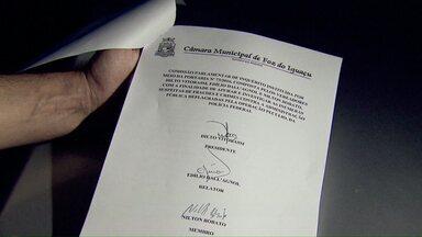 Relatório da CPI da Operação Pecúlio é lido na Câmara de Foz - O documento tem trinta e seis páginas e traz uma descrição dos atos da Comissão desde que foi criada.