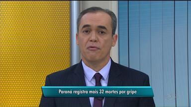Paraná registra 32 novas mortes por gripe - Ao todo, são 168 mortes no estado.